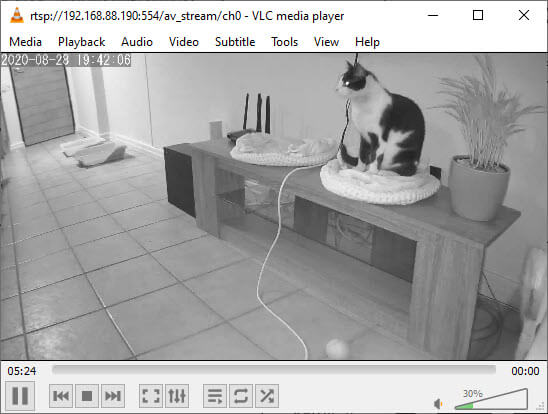 How to stream CCTV footage to VLC media player using rtsp